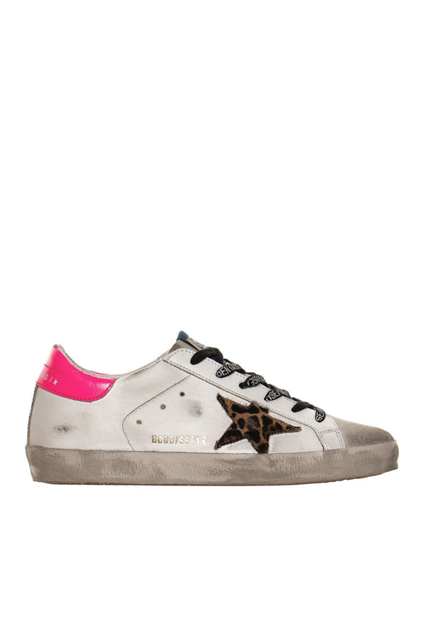 Leopard Horsy Star and Fuchsia Heel Super-Star Sneakers