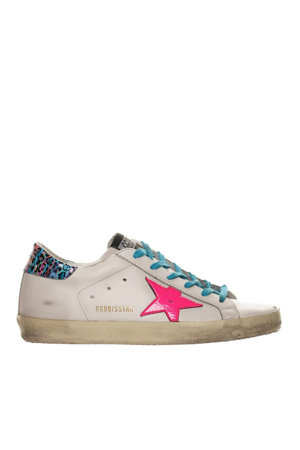 Multicolor Leopard Heel Super-Star Sneakers