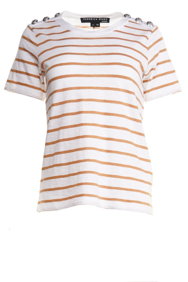 Carla Striped Crew-Neck Tee