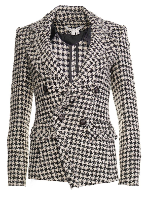 Taja Houndstooth Tweed Jacket