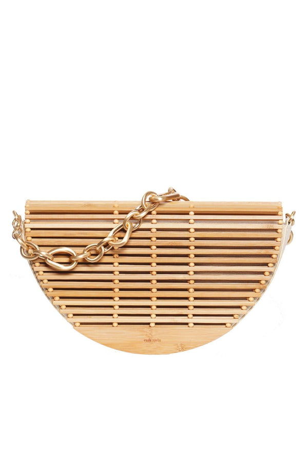 Celine Natural Bamboo Shoulder Bag