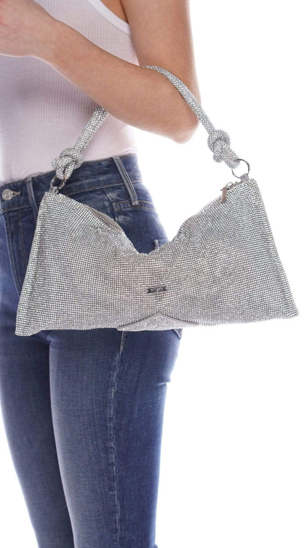 Hera Clear Rhinestone Shoulder Bag