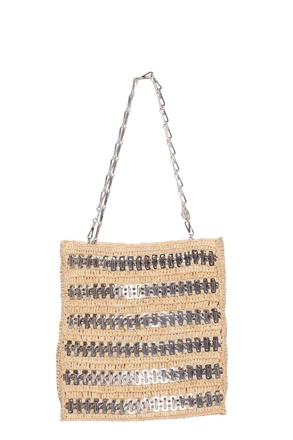1969 Natural Raffia Tote Bag