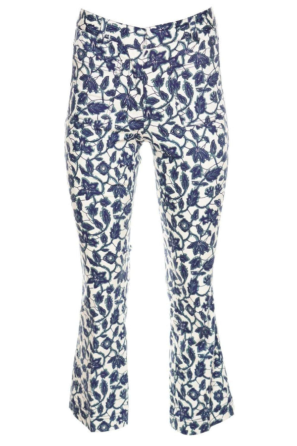 Laurie Printed Crop Flare Trousers