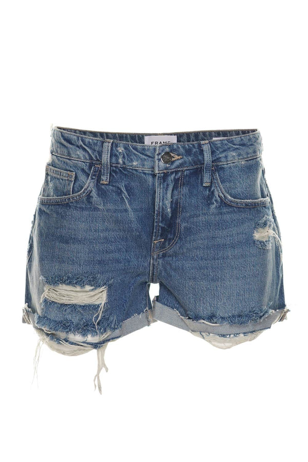 FRAME Le Grand Garçon High-Rise Shorts
