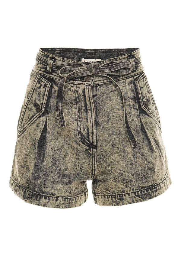 Ulla Johnson Alec Mint Acid Wash Denim Shorts