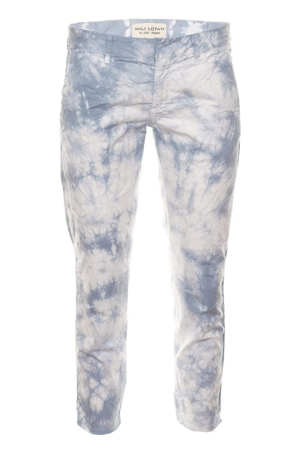 Nili Lotan East Hampton Light Blue Tie Dye Pants