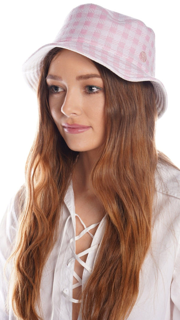 MAISON MICHEL Jason Reversible Gingham Bucket Hat