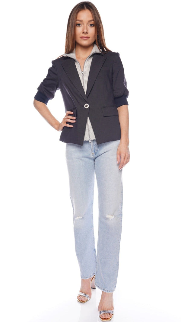 Veronica Beard Margereth Navy Dickey Jacket