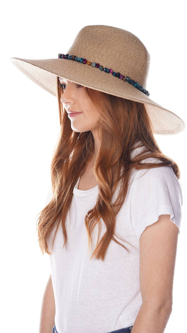 Eugenia Kim Cassidy Multicolor Beads Wide-Brim Fedora