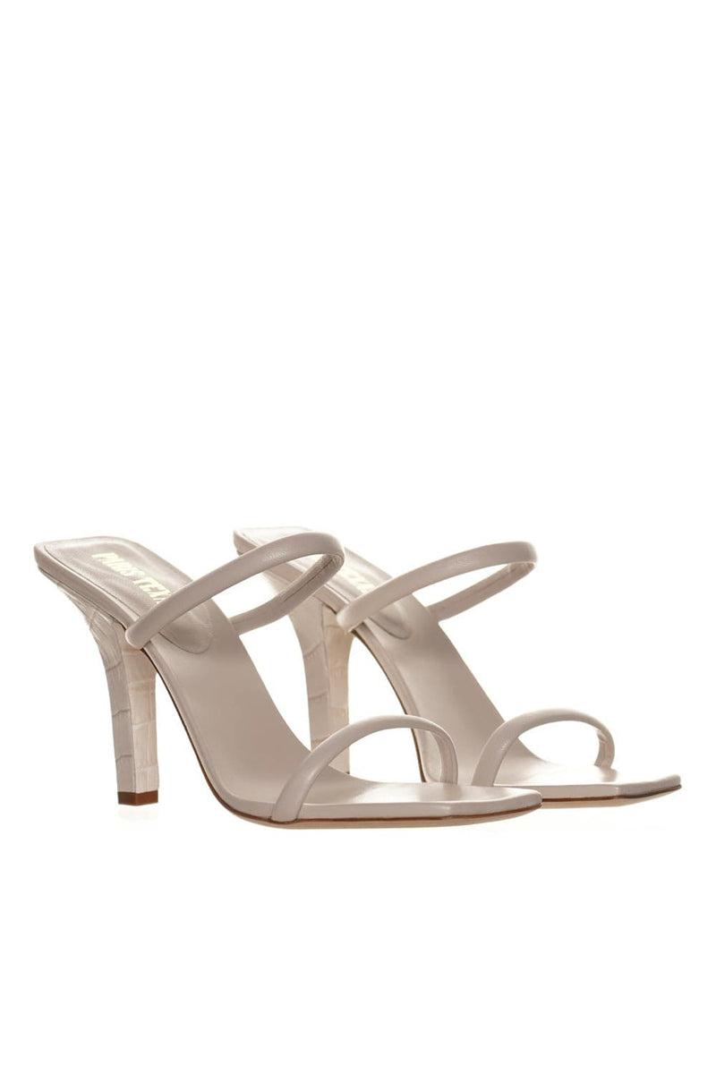 Paris Texas Linda Gesso Embossed Mule Sandals
