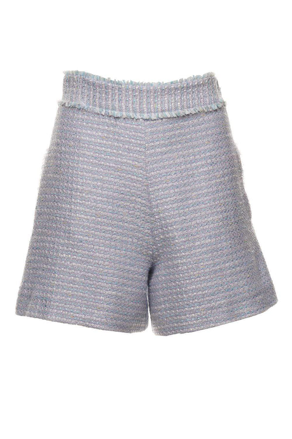 Fringed Tweed High-Rise Shorts