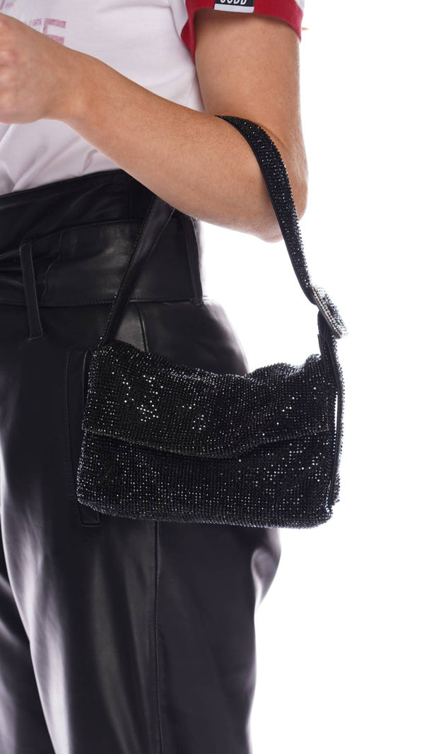 La Vitty Mignon Crystal Embellished Shoulder Bag