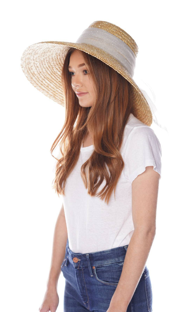 Eugenia Kim Mirabel Straw Sunhat with White Sparkle Trim