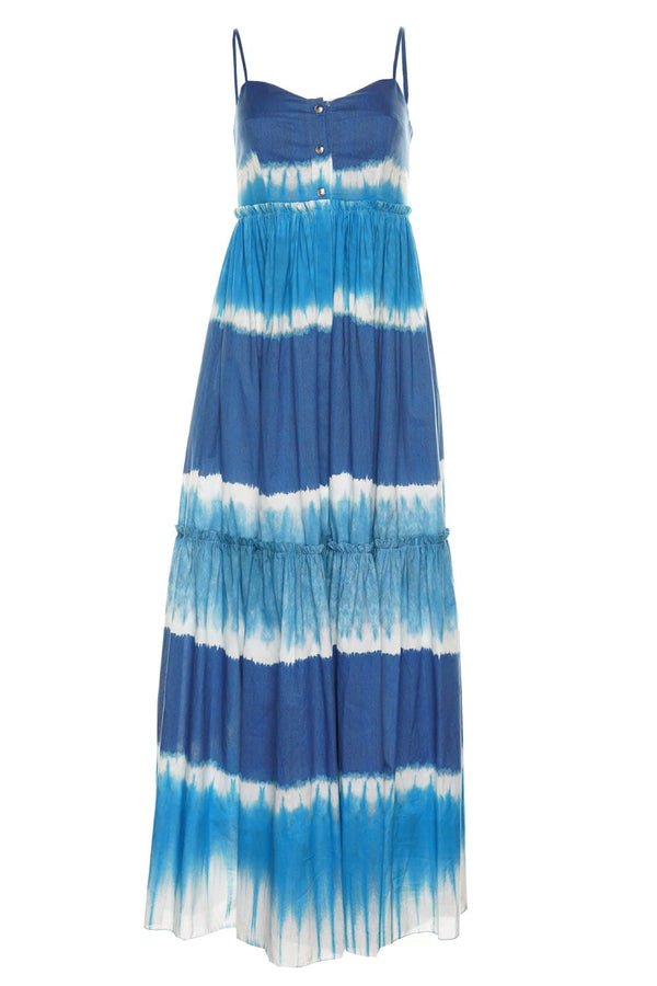 Tie-Dye Printed Muslin Maxi Dress