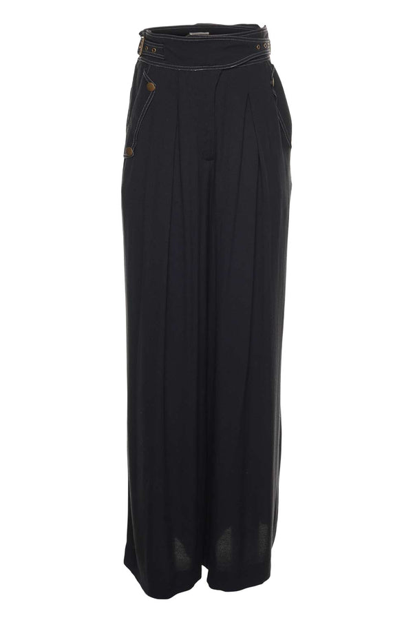 Ulla Johnson Felix Noir Wide-Leg Trouser