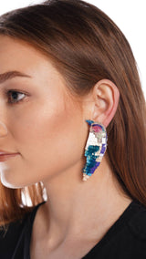 Mignonne Gavigan Bird Multicolor Ombre Earrings
