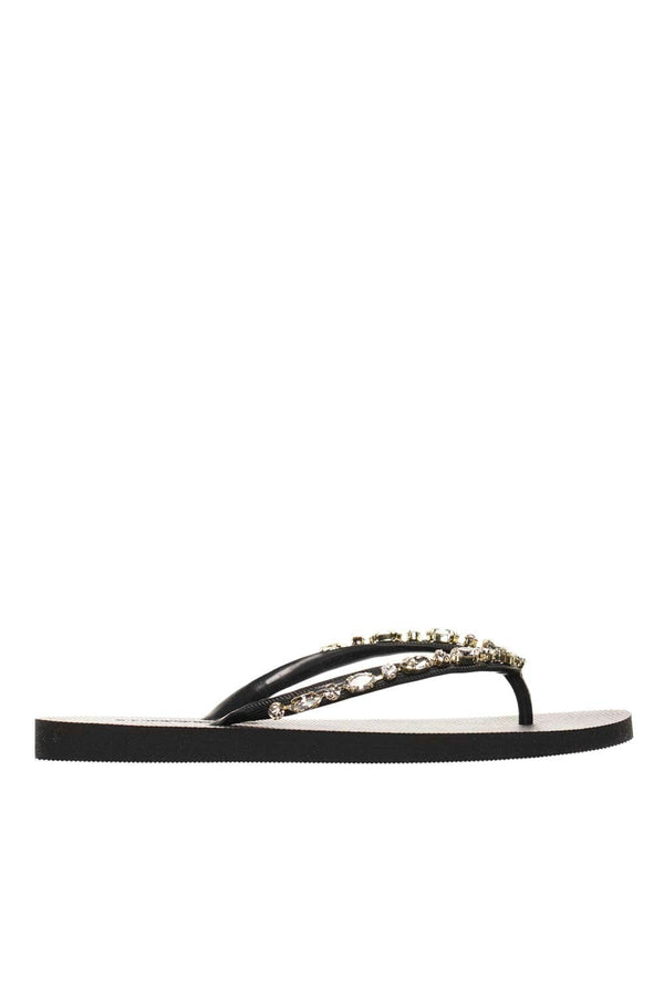 MYSTIQUE Munster Black Crystal Thong Flip Flop
