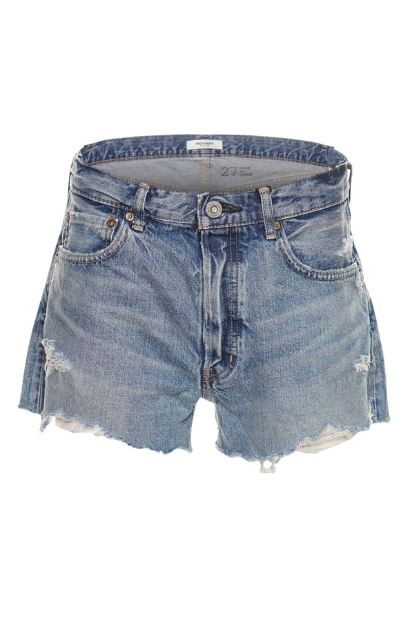 MOUSSY VINTAGE Shirley Distressed Denim Shorts