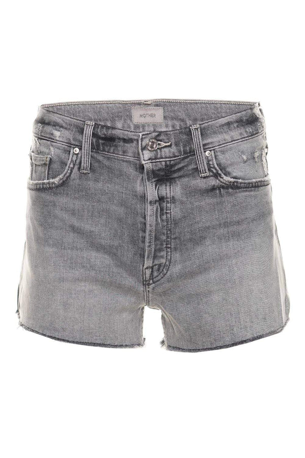 MOTHER Denim The Tomcat Kick Fray Shadows in the Grass Denim Shorts