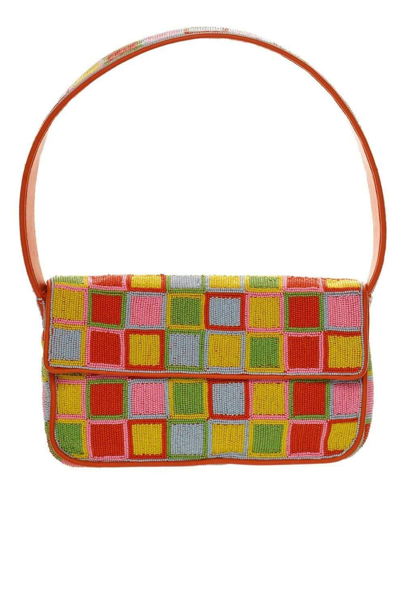 Staud Tommy Multi Beaded Shoulder Bag