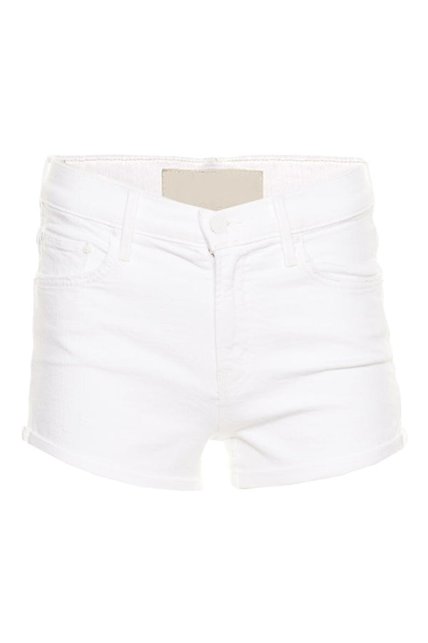 MOTHER Denim The Teaser Donut Roll Denim Shorts