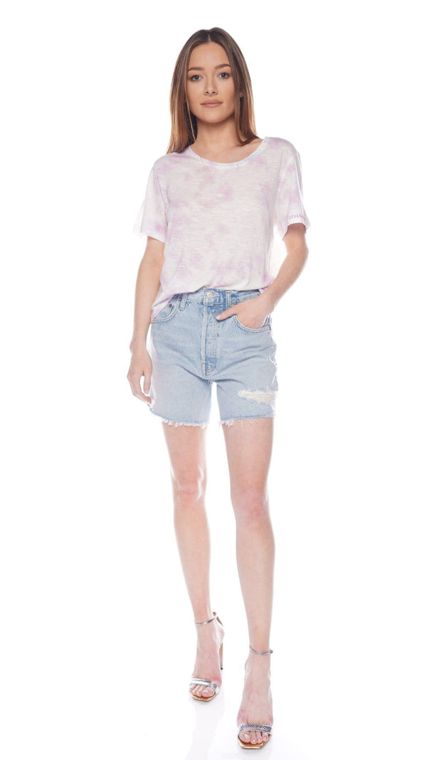 AGOLDE Riley Groove Cut-Off Denim Shorts