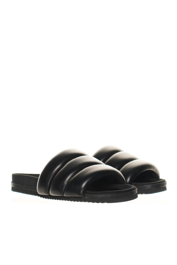 ROAM The Puffy Black Vegan Leather Slides