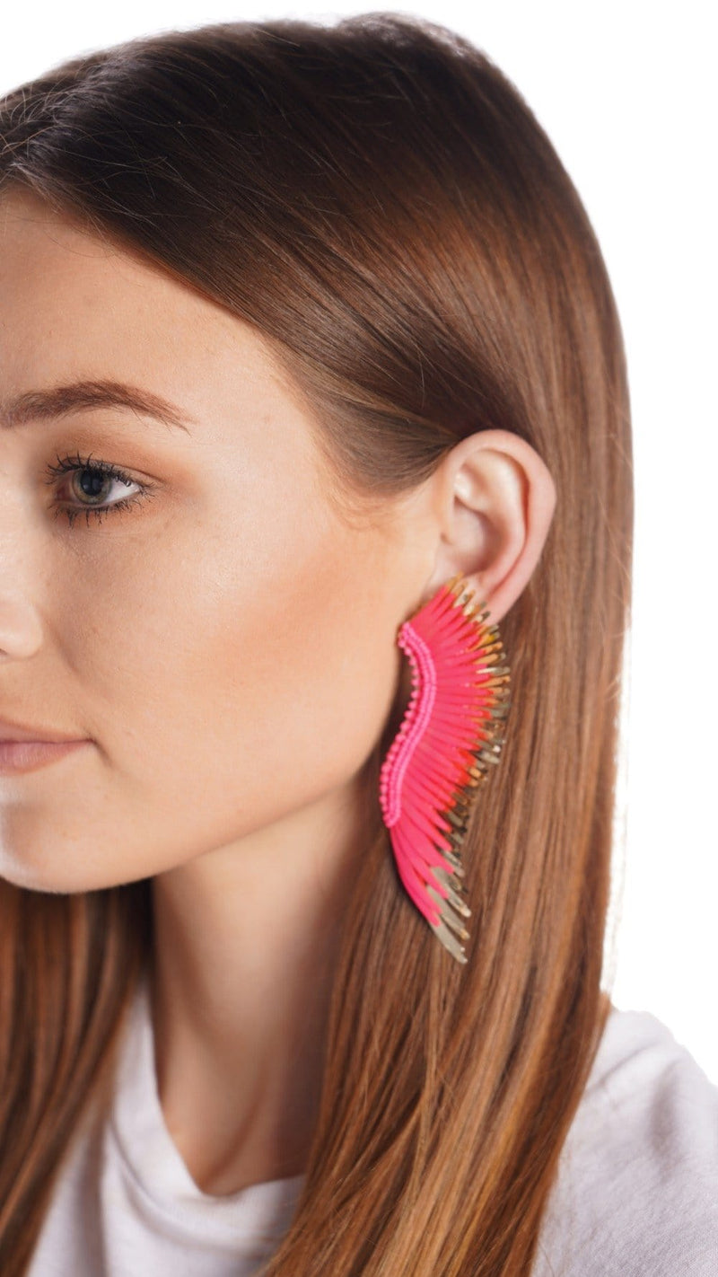 Mignonne Gavigan Madeline Hot Pink & Gold Earrings