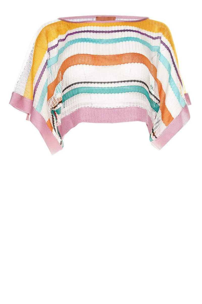 MISSONI Mare Striped Open Knit Crop Top