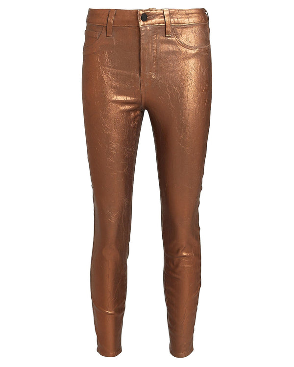 L'AGENCE - Margot High Rise Skinny Foil Jeans