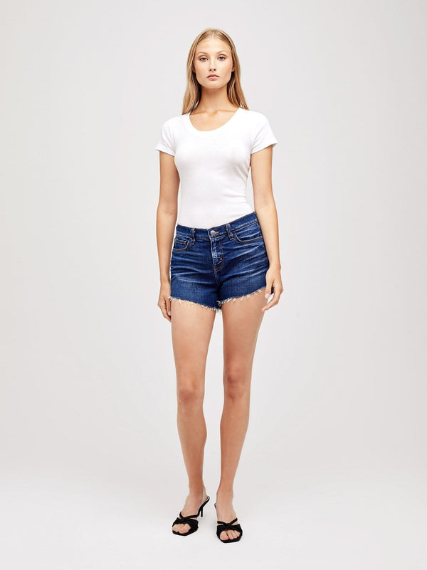 L'AGENCE - Audrey Cut Off Jean Shorts