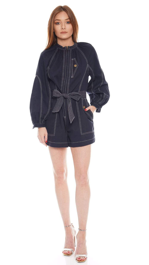 Ulla Johnson - Piper Long Sleeve Belted Playsuit