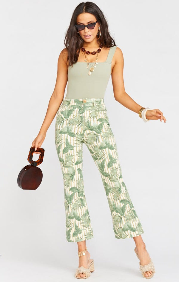 Show Me Your Mumu - Cropped Hawn Palm Print Trouser