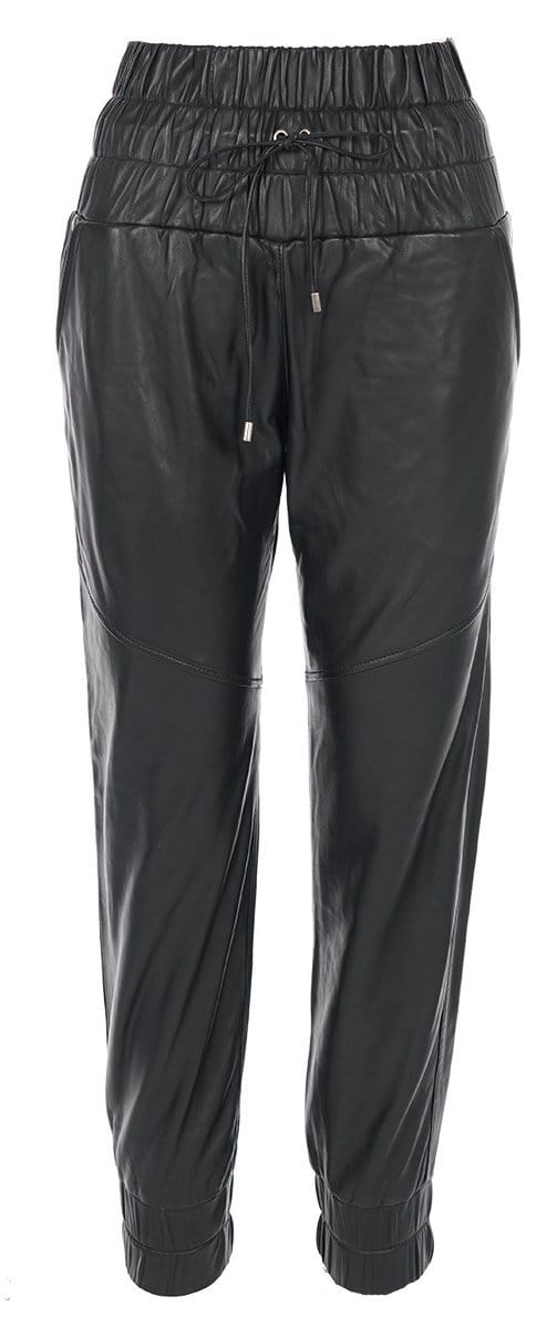 Marissa Webb - Dalton Black Leather Jogger