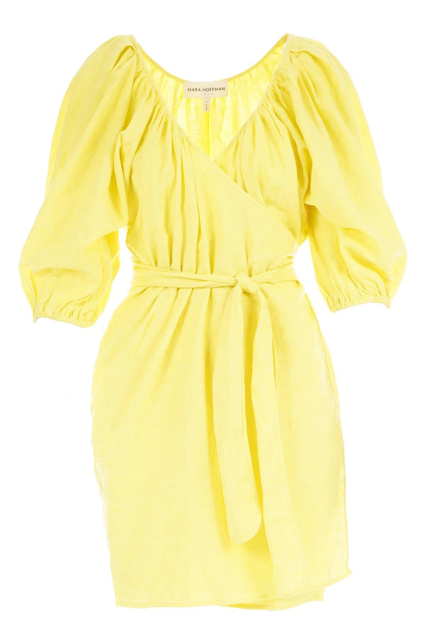 Coletta Mini Wrap Dress Citrus