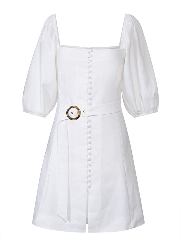 Jonathan Simkhai - Emery Linen Stretch Belted Mini Dress
