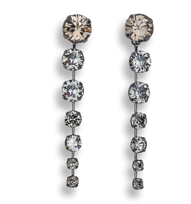 Jennifer Behr - Tala Black Diamond Chandelier Earrings