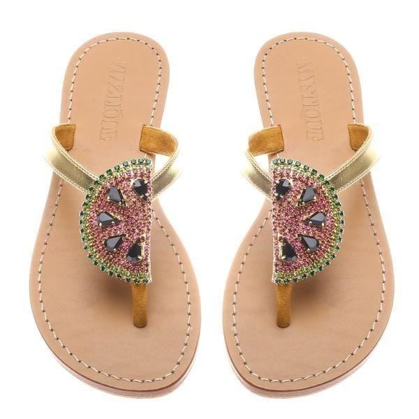 Addison Watermelon Thong Sandals