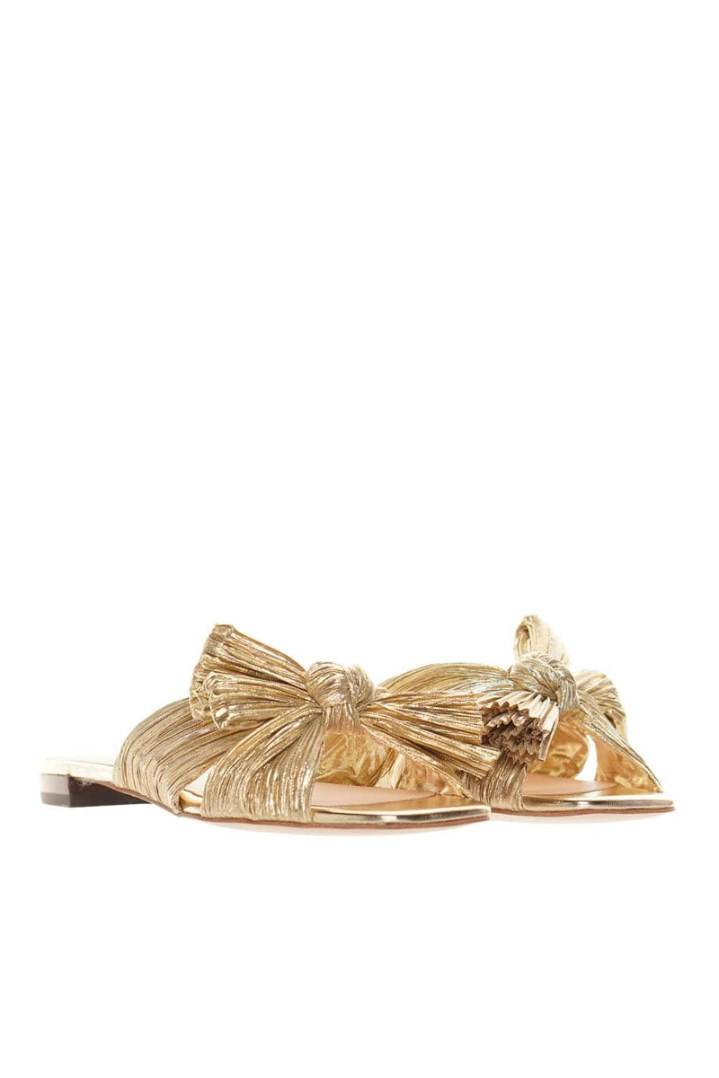 Loeffler Randall Daphne Gold Metallic Leather Sandals