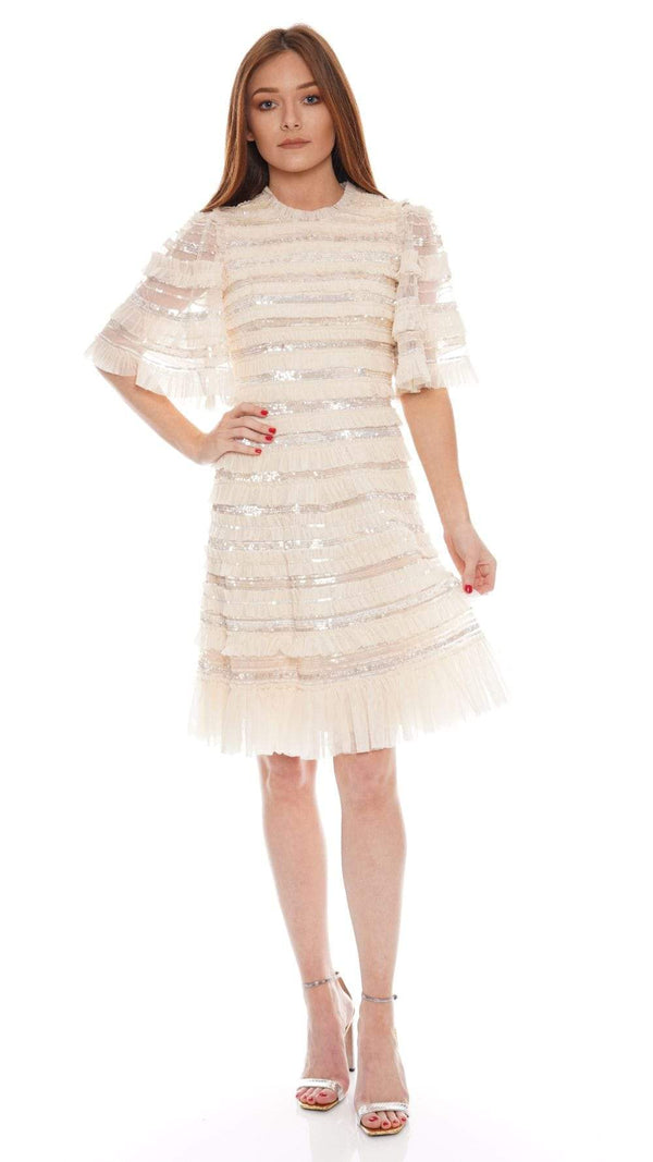 Needle & Thread Nancy Frill Short Sleeve Mini Dress