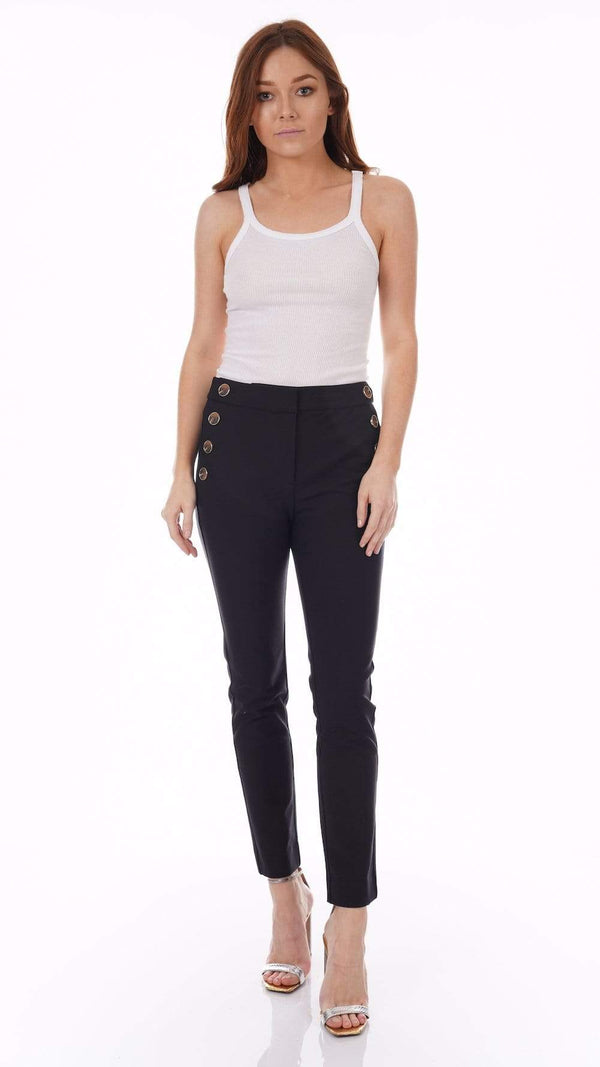 Derek Lam 10 Crosby Kelis Black Straight Leg Sailor Pants