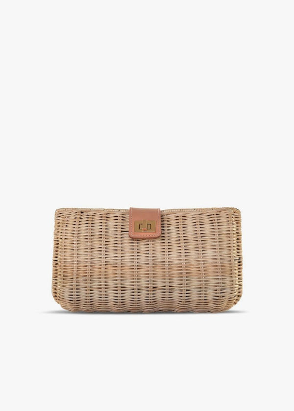 KAYU - Kaine Natural Straw Wicker Clutch