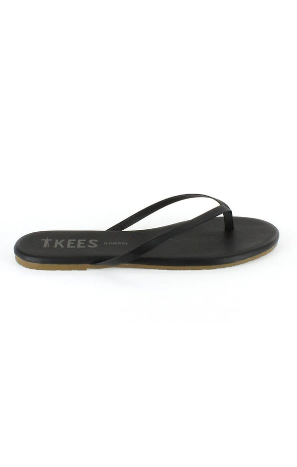 TKEES Sable Black Thong Sandal
