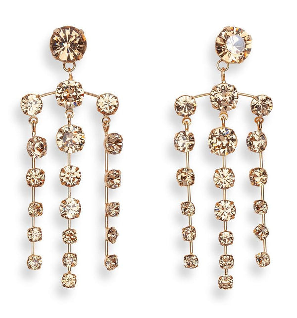 Jennifer Behr Aida Honey Chandelier Earrings