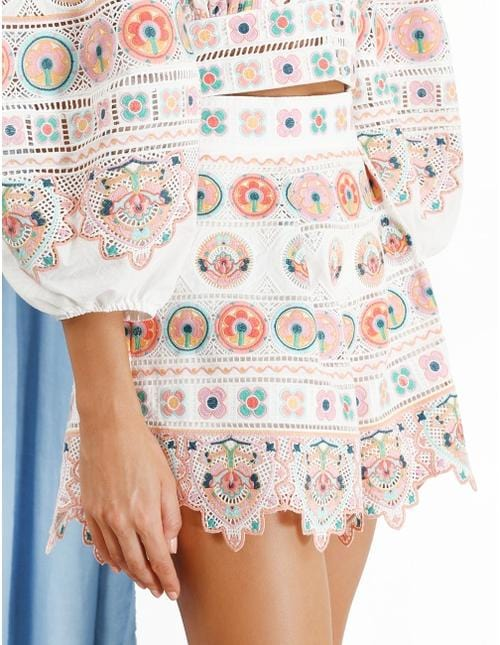 ZIMMERMANN - Brighton Scalloped Embroidered Shorts