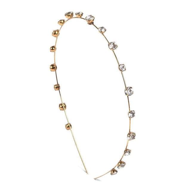 Jennifer Behr - Iva Gold And Crystal Skinny Headband