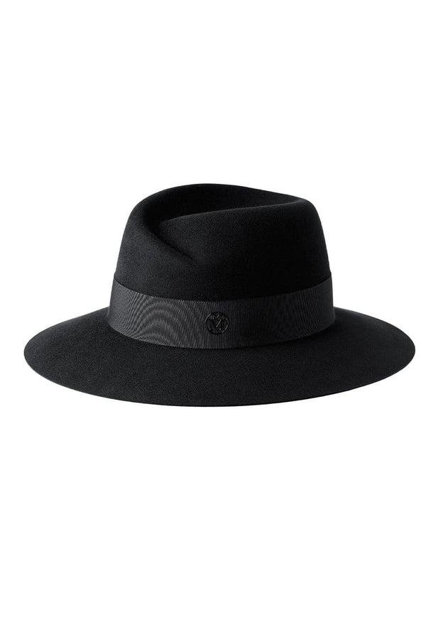 MAISON MICHEL - Virginie Felt Timeless Waterproof Black Fedora