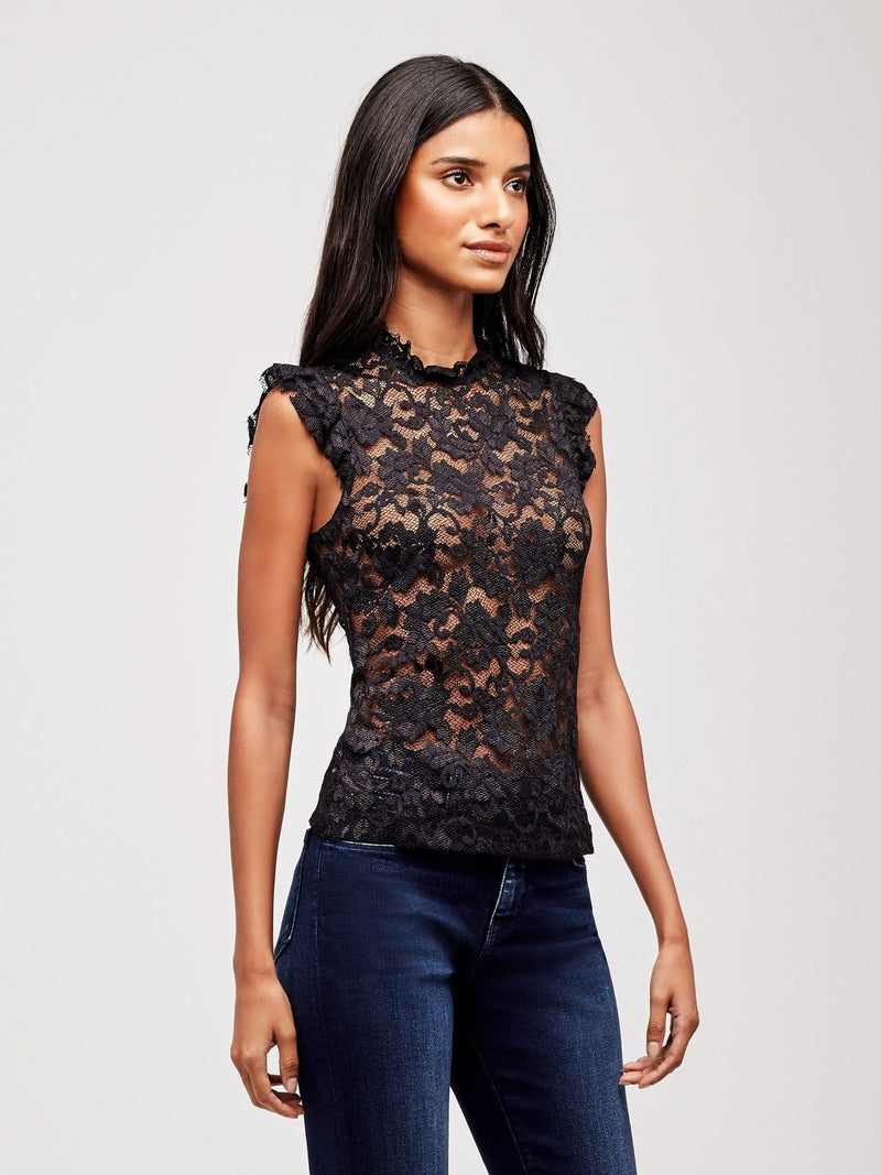 Kassia Ruffle Lace Top