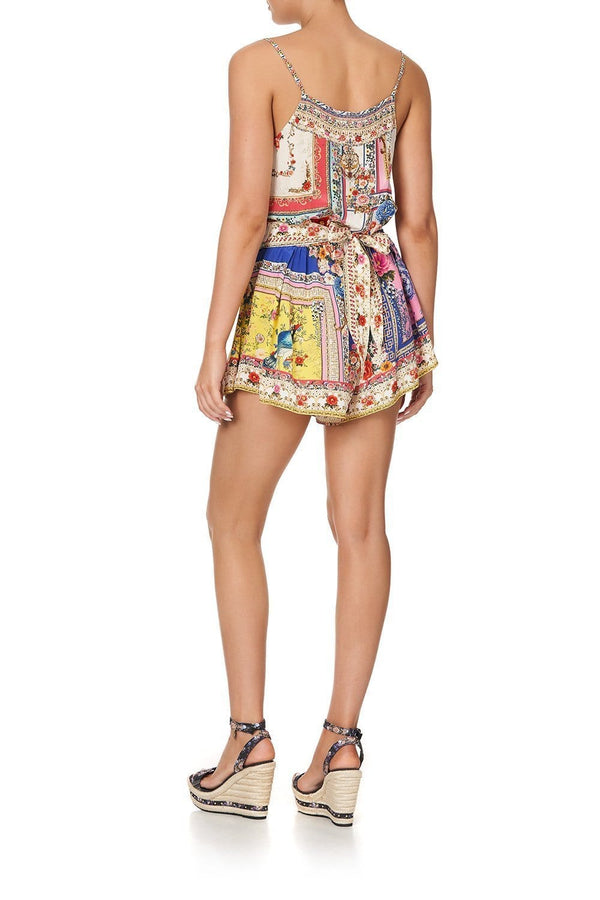 Party in the Palace Shoestring Strap Playsuit
